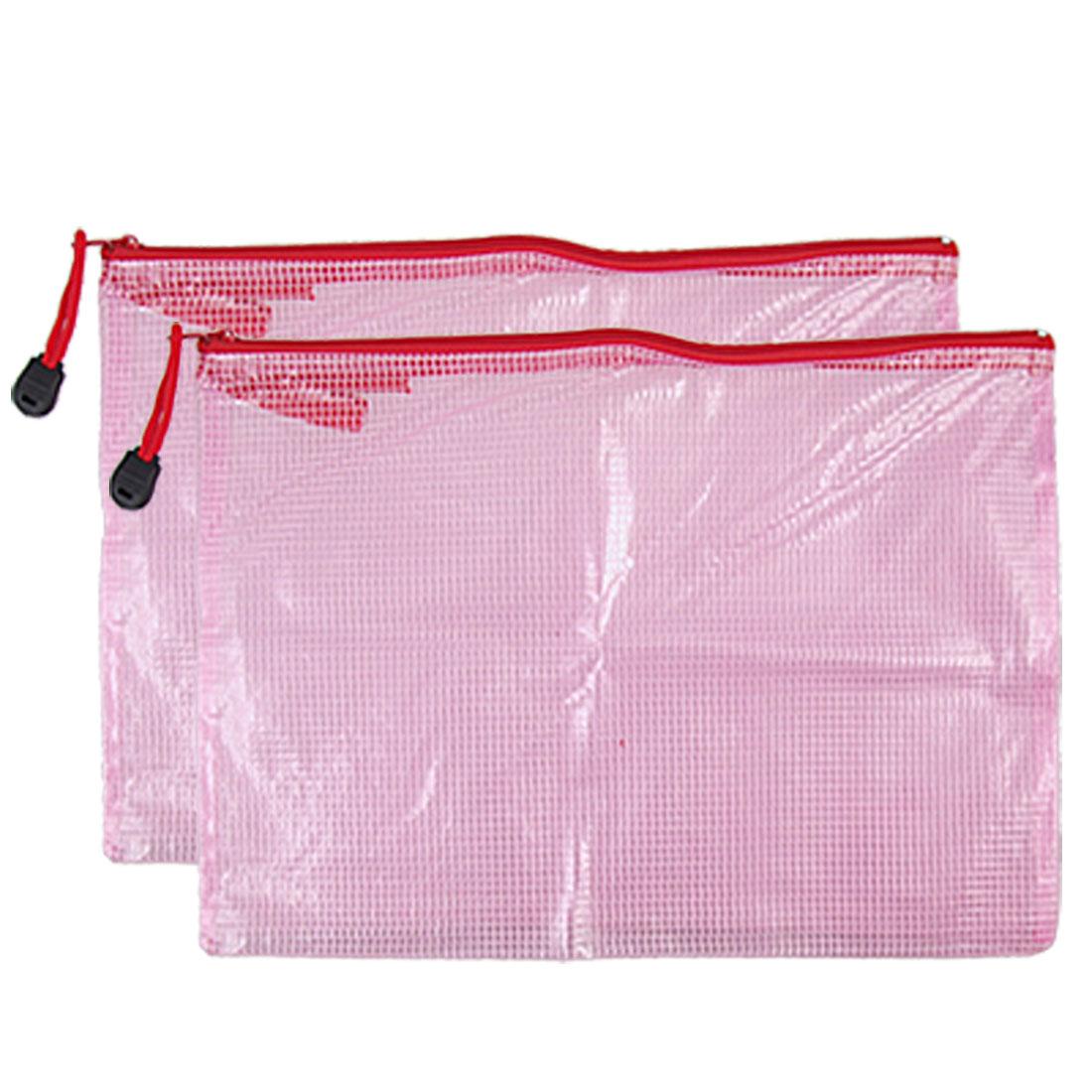 Inner Netty Design Clear Pink B5 Paper Size Flies Bag 2 Pcs