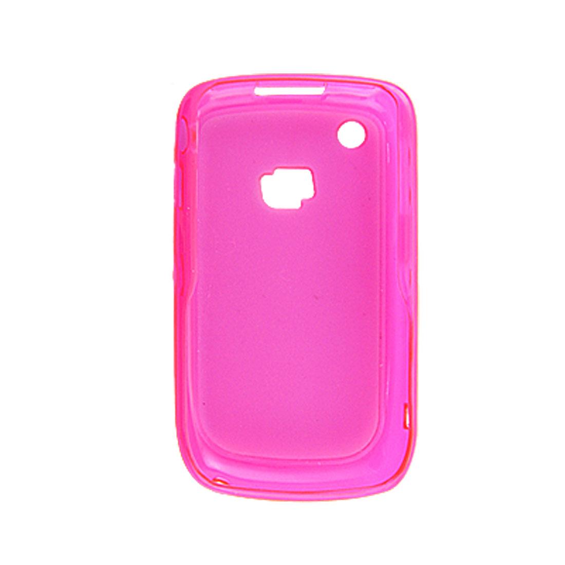 Hot Pink Plastic Back Protector Case for Blackberry 8520 9300