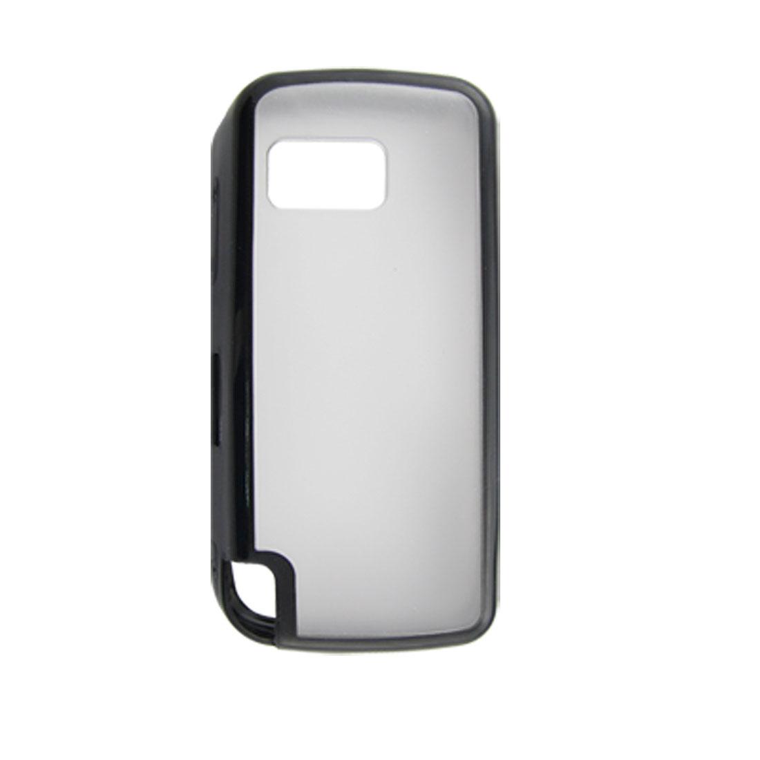 Black Soft Plastic Back Case for Nokia 5230 5235