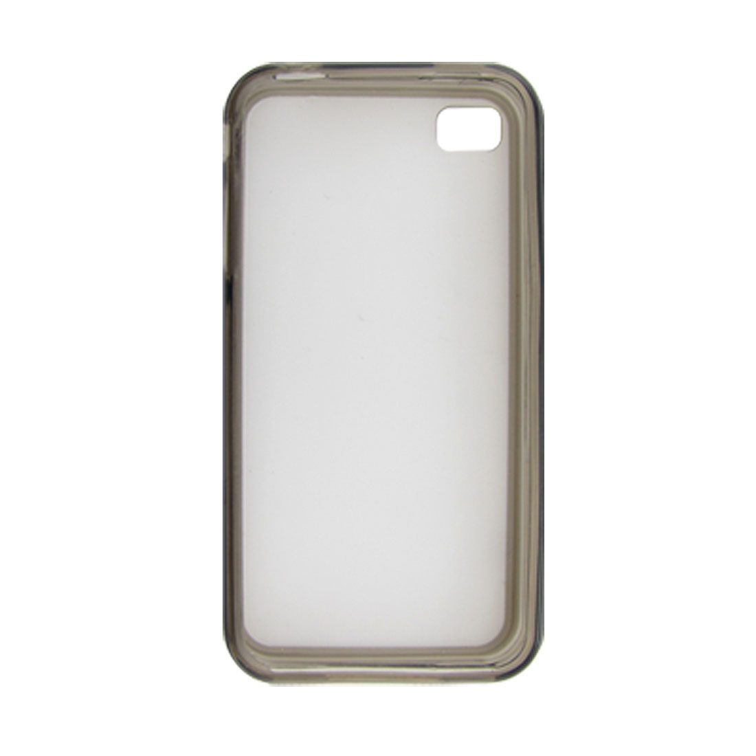 Gray Sides Anti-Glare Back Plastic Cover Case for iPhone 4 4G