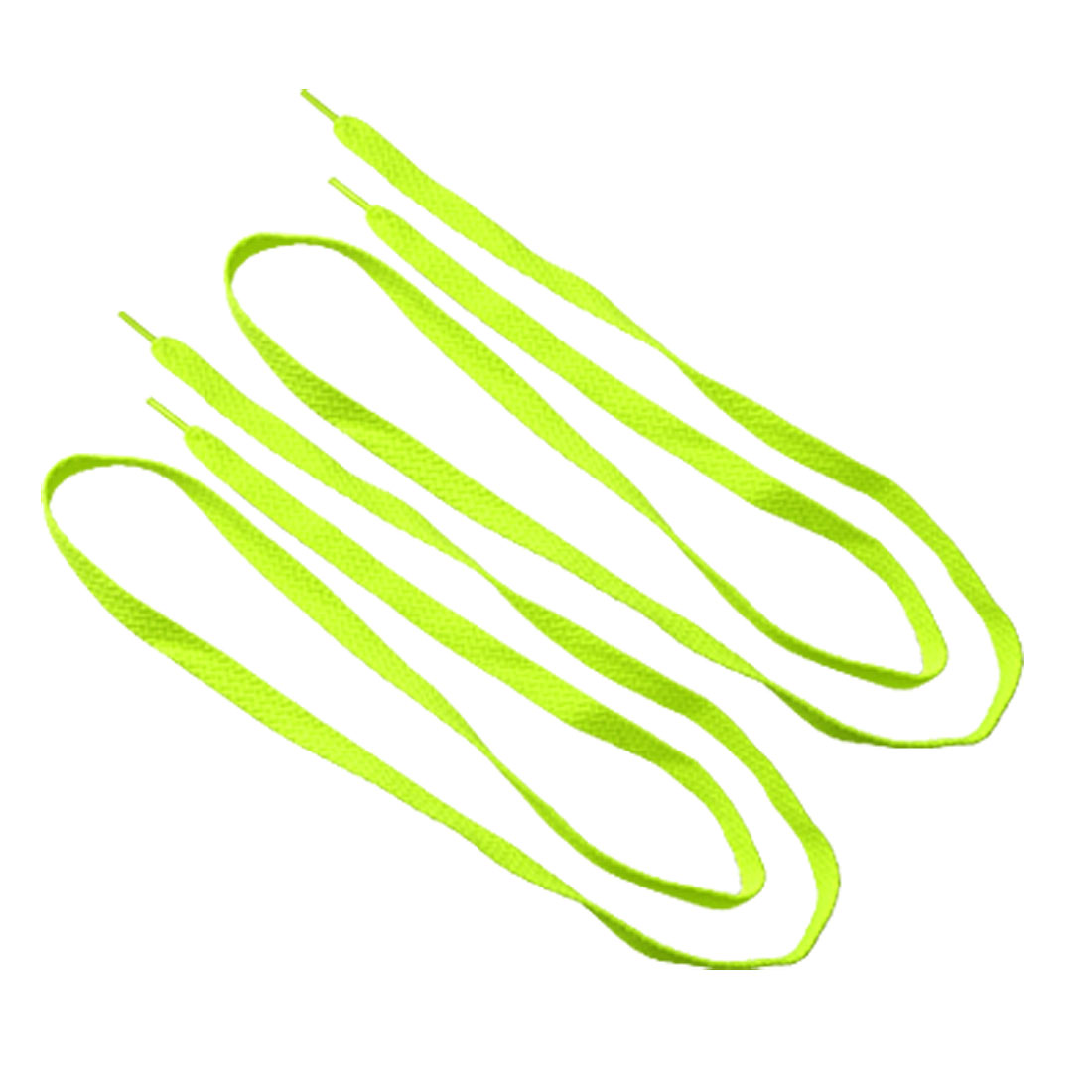 Yellowgreen Replacement Flat Shoelaces Bootlaces 2 PCS
