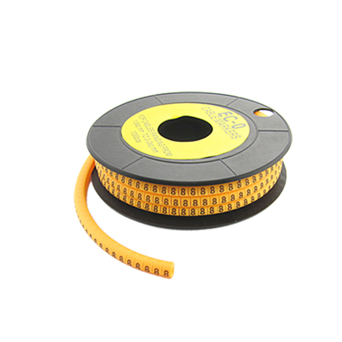 "EC-O Type Yellow Power Cable Number Marker No.""8"" 1000 Pcs"