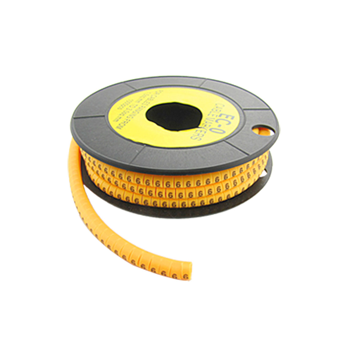 "EC-O Type Yellow Power Cable Number Marker No.""6"" 1000 Pcs"