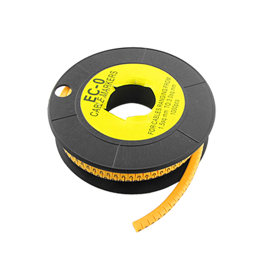 "1000 Pieces EC-0 Type Yellow Cable Marker No.""0"""