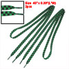 Pair Green Black Checked Sports Flat Strings Shoelaces