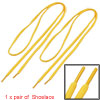 2 PCS Yellow Sports Tennis Shoes Shoestring Latchets