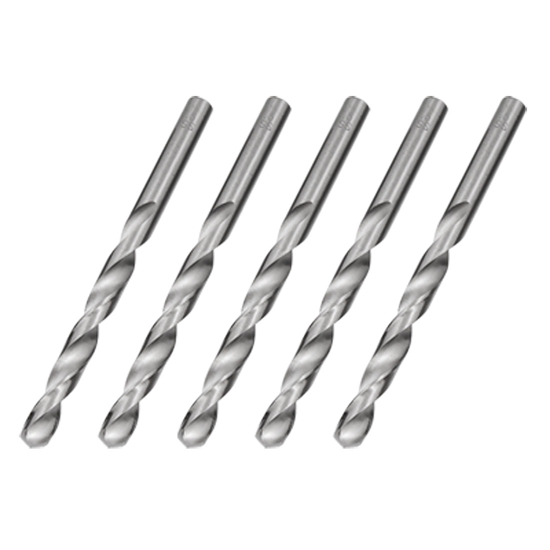 5 pcs 7.5mm Straight Shank Twist Drill Bit Boring Tool