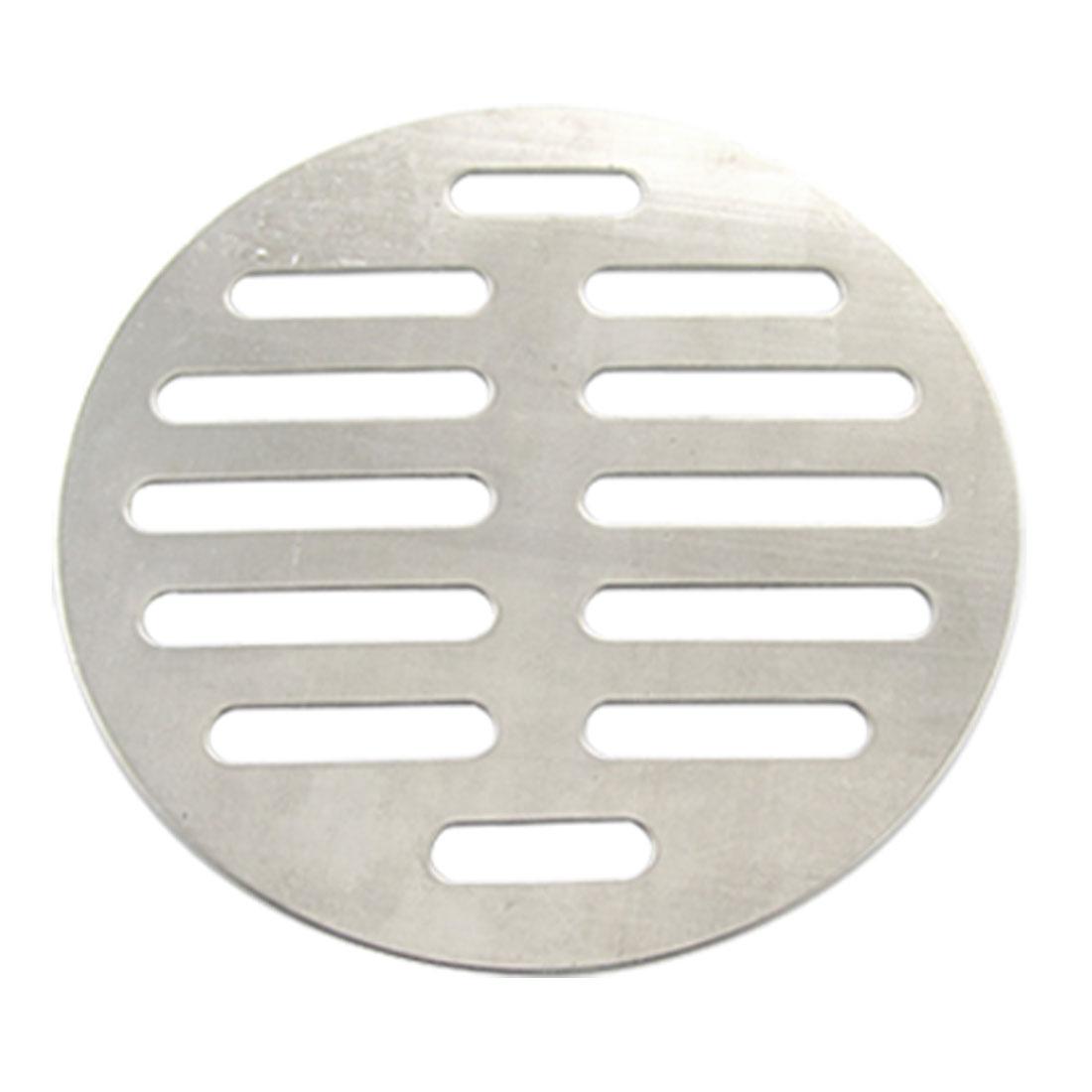 Bathroom Silver Tone Stainless Steel Floor Drain Cover