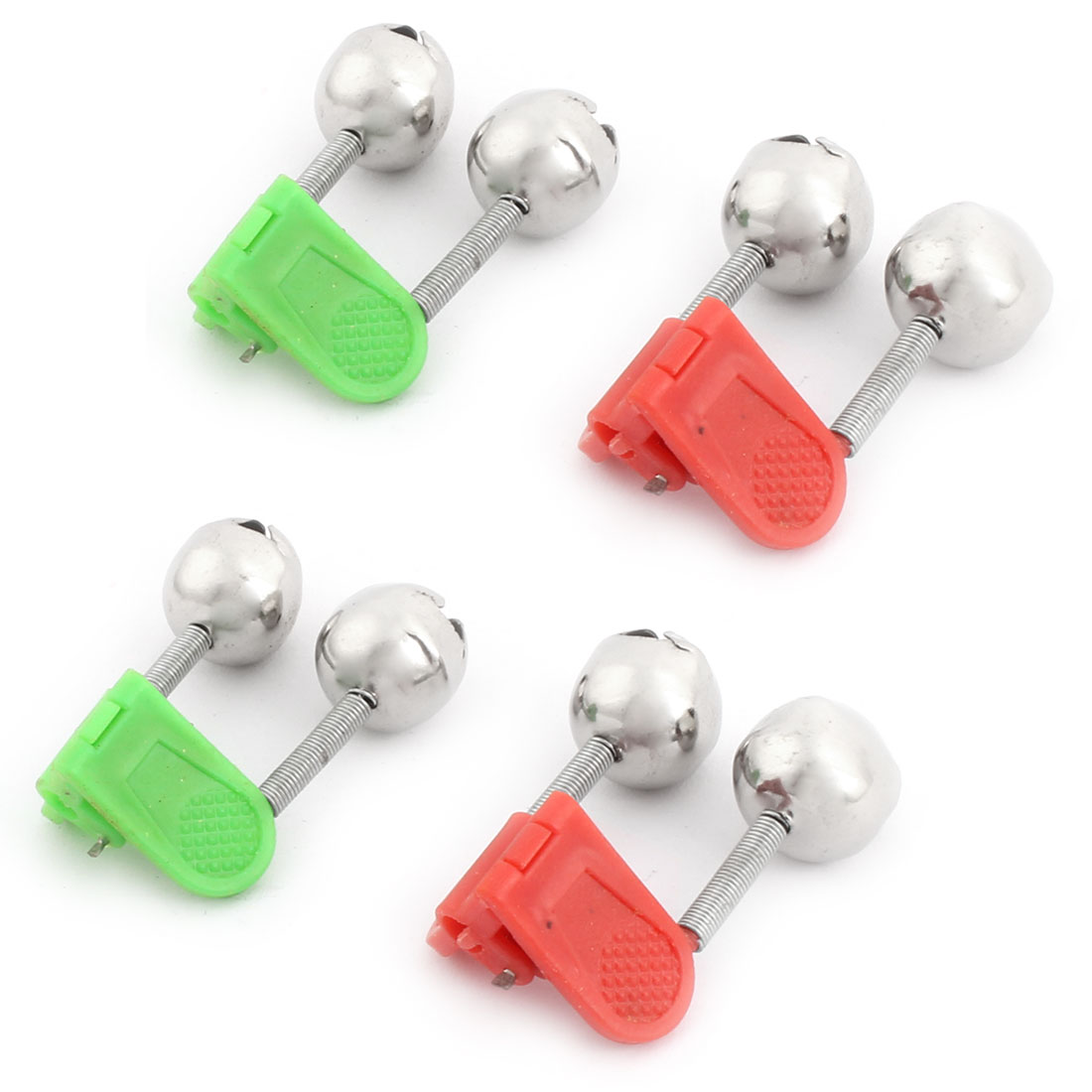 4PCS Round Twin Alert Bell Fishing Rod Alarm w Clip