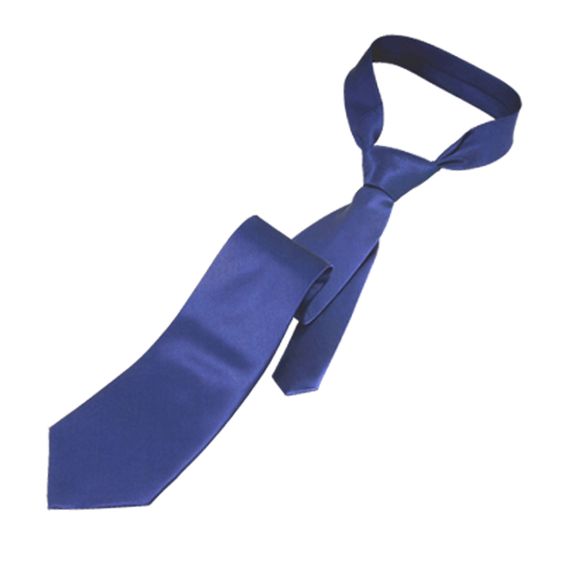 "Polyster 57"" Length Smooth Royal Blue Men Necktie Neckwear"