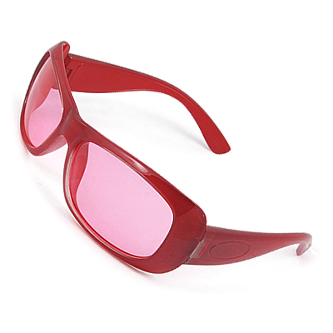 Red Plastic Arms Full Rim Outdoor Sunglasses for Child