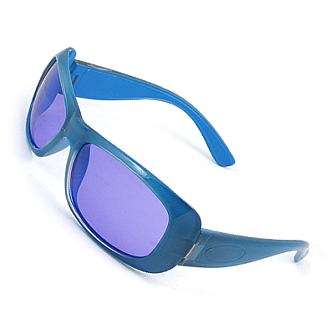 Children Blue Plastic Arms Full Frame Sports Sunglasses