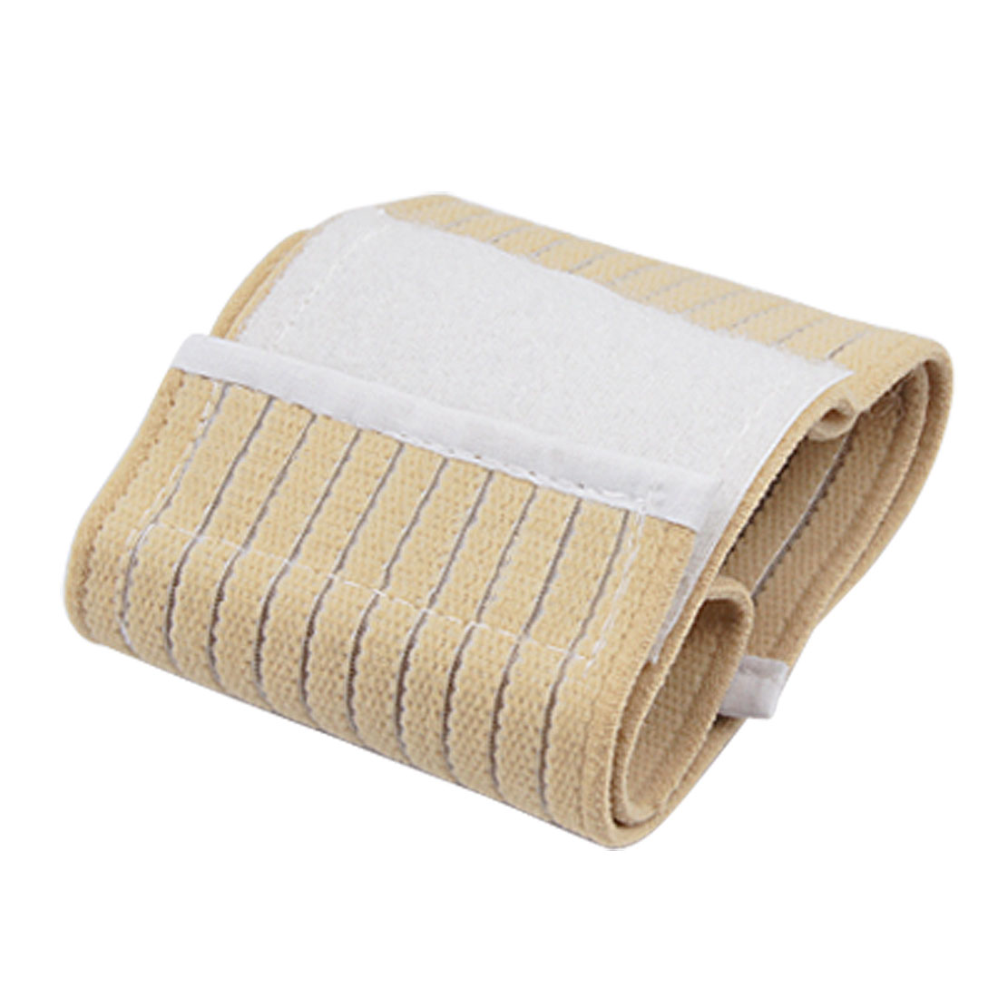 Beige Striped Elastic Sporting Wrist Wrap Support Protector