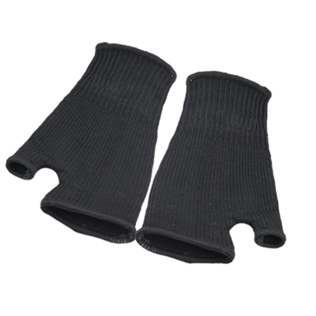 One Pair Sporting Protection Black Elastic Thumbhole Mitten Palm Support