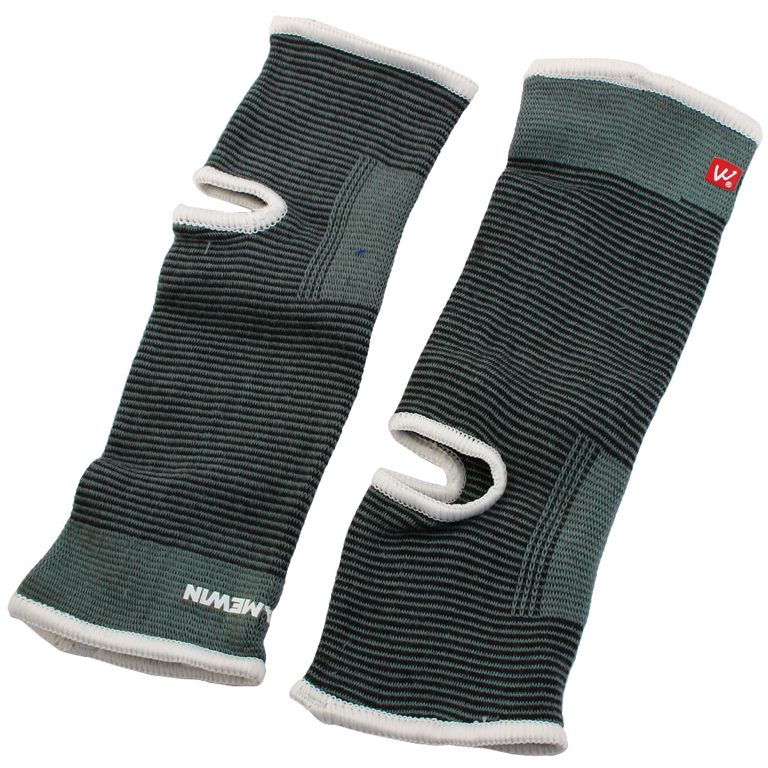 Sports Running Elastic Ankle Support Protector Gray Black