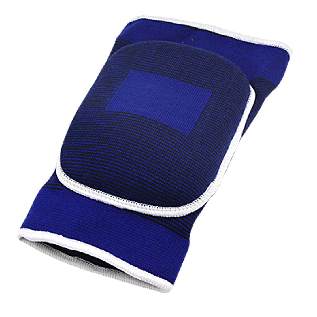 Athletic Blue Black Stretchy Sleeves Brace Knee Pad Support
