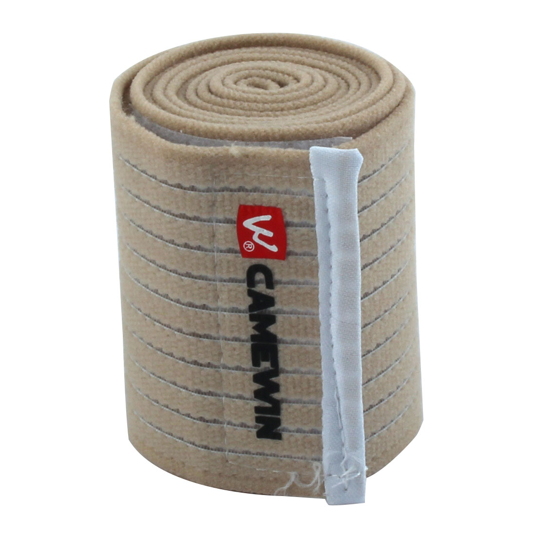 Universal Sports Beige Hook and Loop Fastener Elastic Knee Thigh Support Bandage