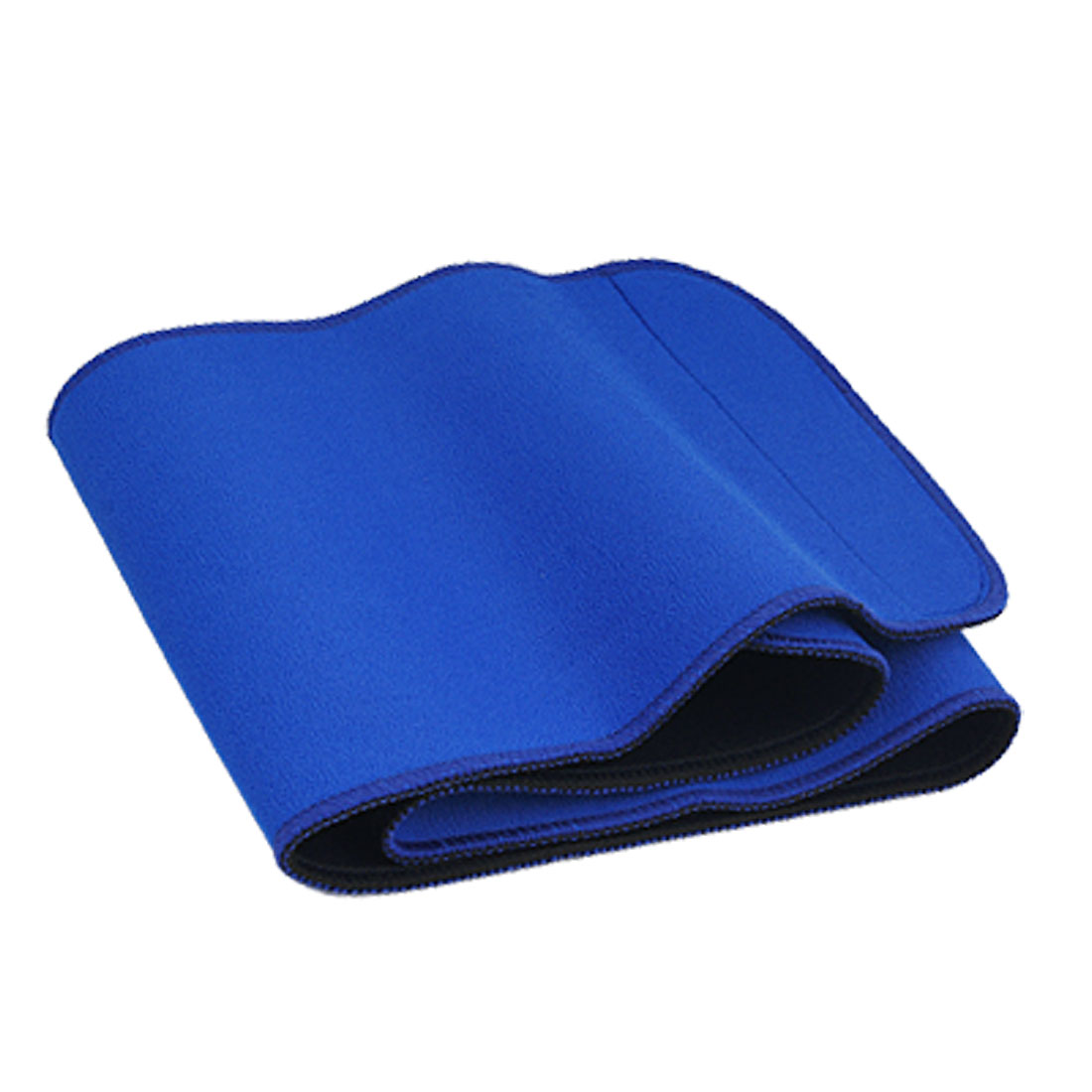 Blue Black Hook and Loop Fastener Adjustable Waist Support Wrapper