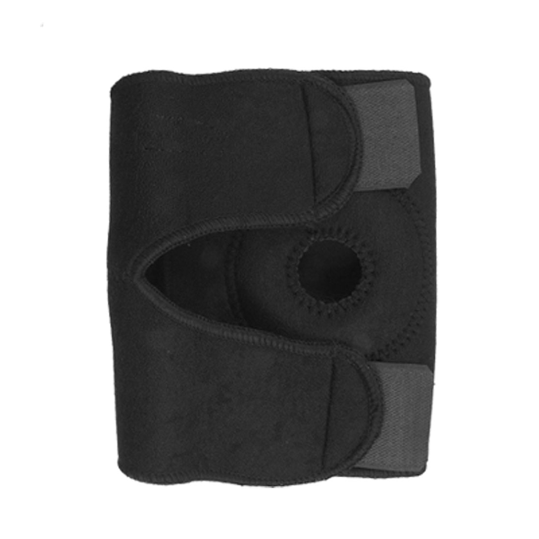 Black Neoprene Hook and Loop Fastener Knee Protector Joint Support 1PCS