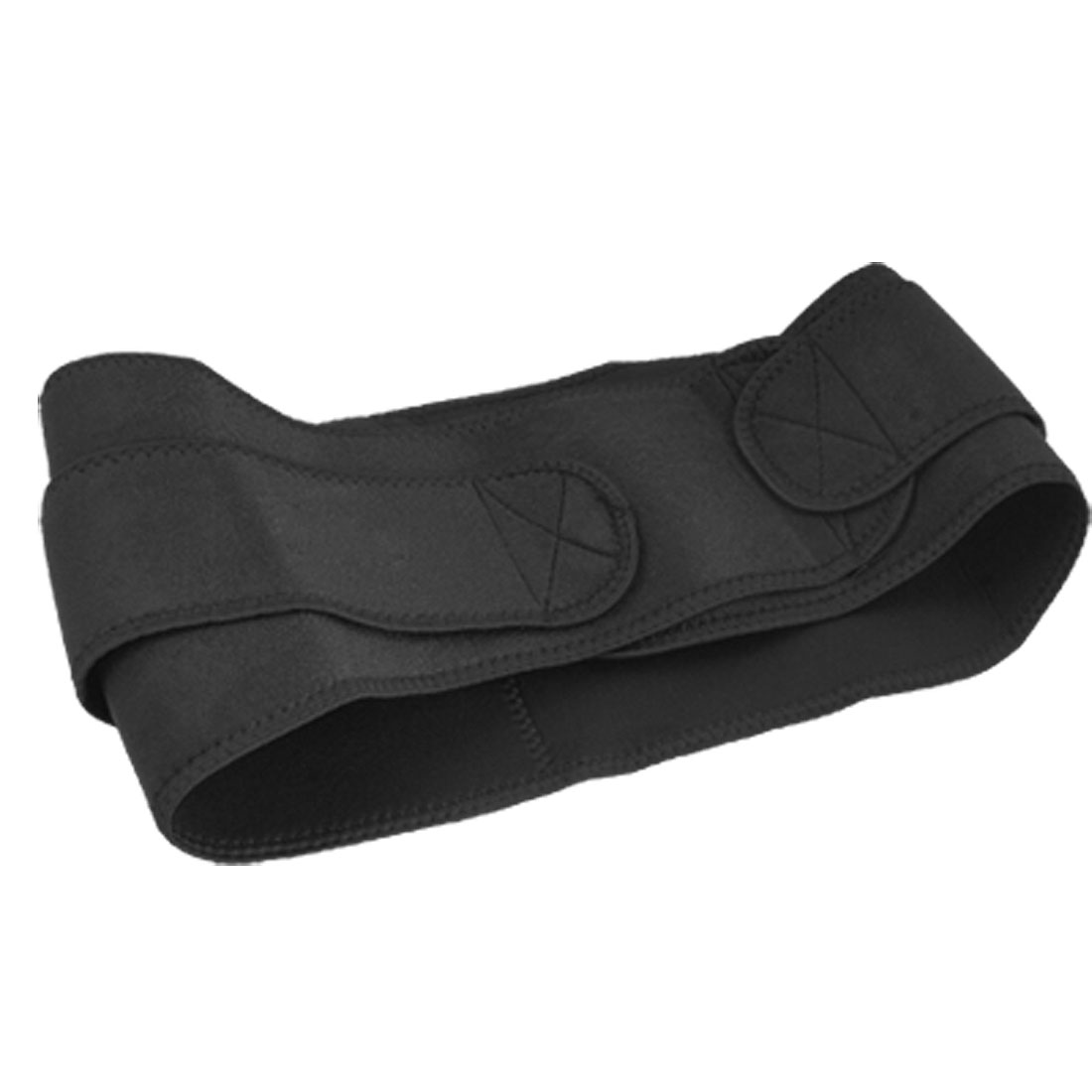 Exercising Black Neoprene Hook and Loop Fastener Fasten Back Waist Brace Support