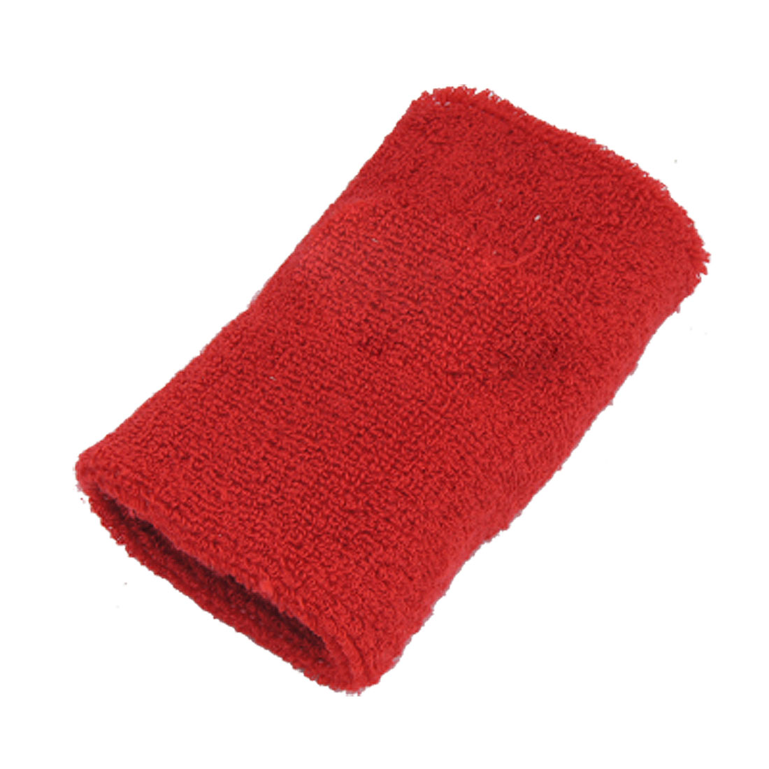 Athletic Red Stretchy Fabric Protector Support Wrist Band