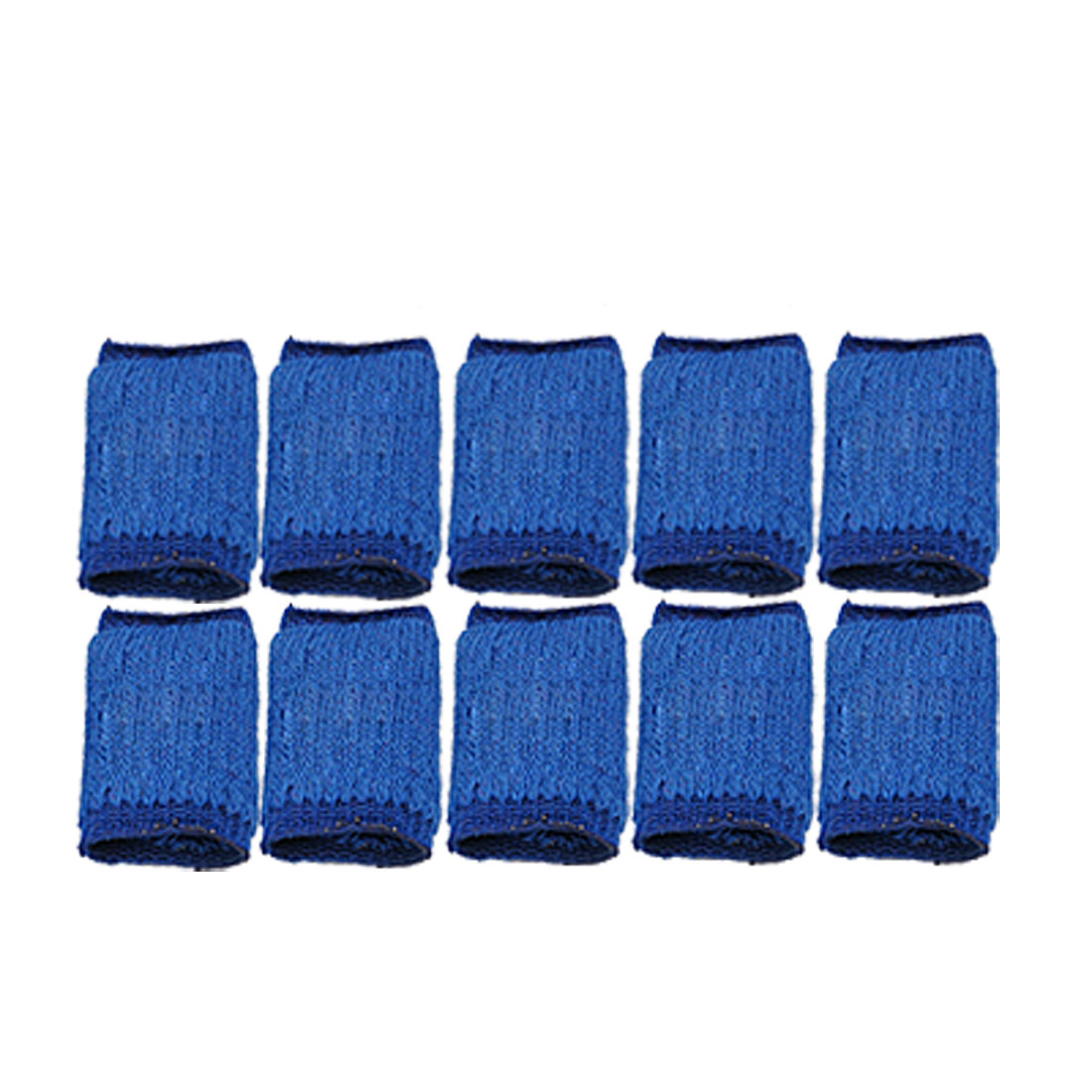 Basketball Sporting Blue Elastic Finger Sleeve Band 10pcs