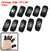 10pcs Black Basketball Sporting Elastic Finger Sleeve Wrap