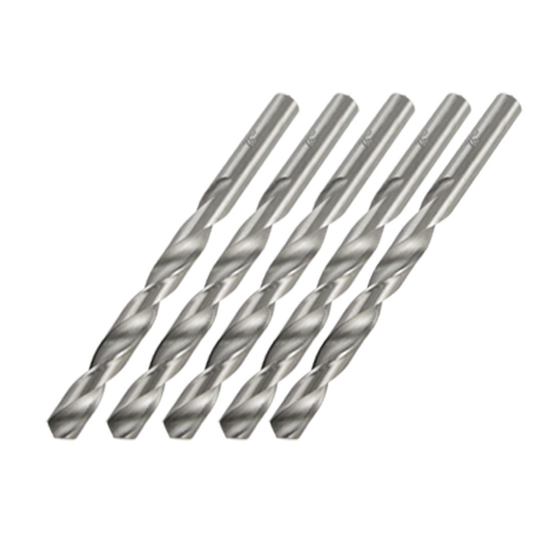 "4.8"" Length 10mm Diameter HSS Straight Shank Twist Drill Bit 5Pcs"