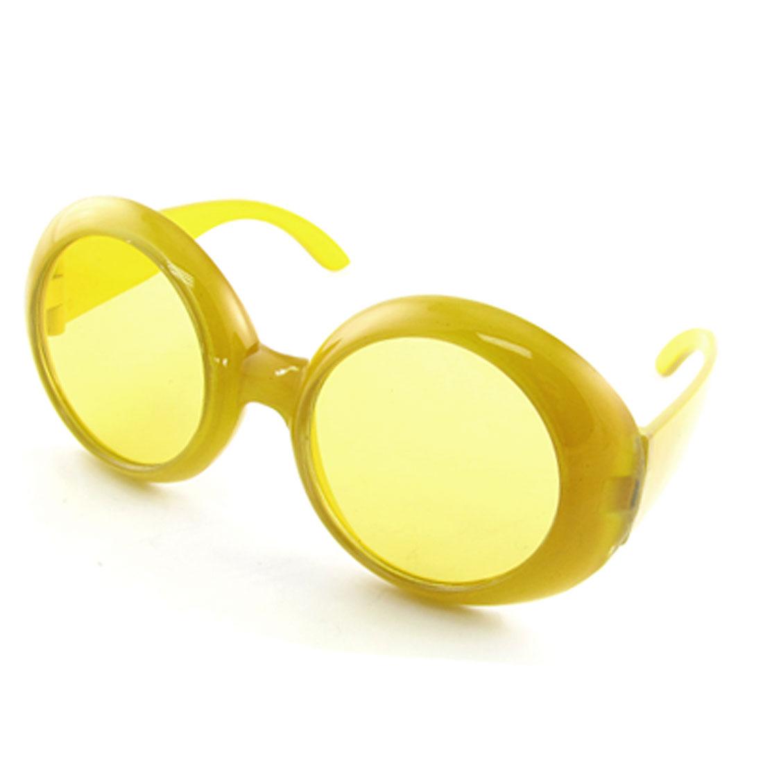 Fashion Full Rim Plastic Yellow Sun Glasses for Children