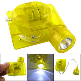White LED Lighting Reading Flexible Yellow Lamp Plastic Clip