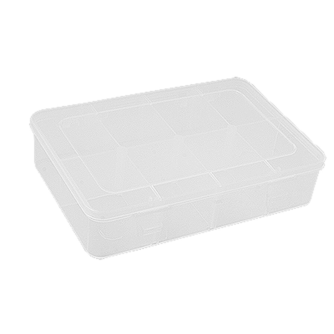 Clear Hard Plastic 8 Compartments Components Case Box
