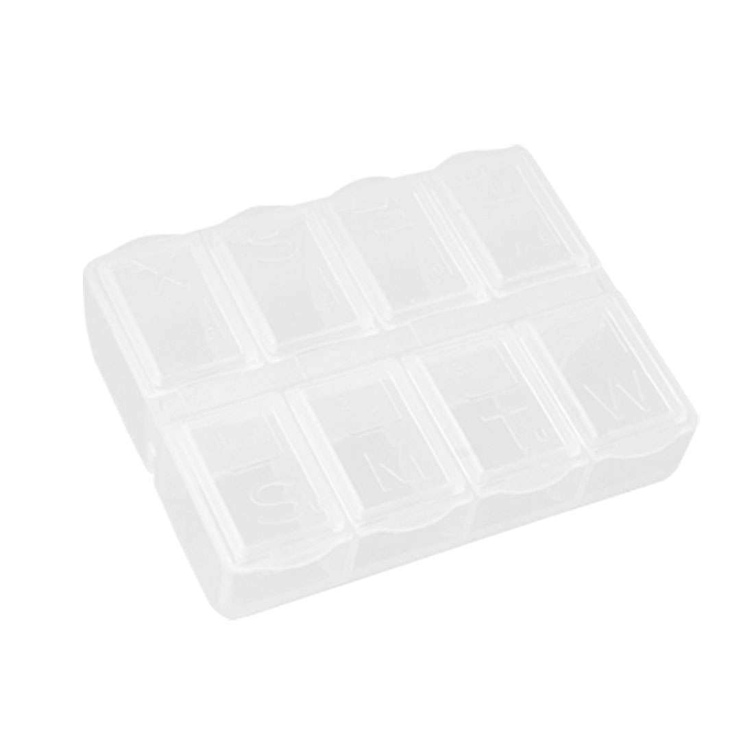 Mini Hard Plastic 8 Compartments Clear Case Component Holder