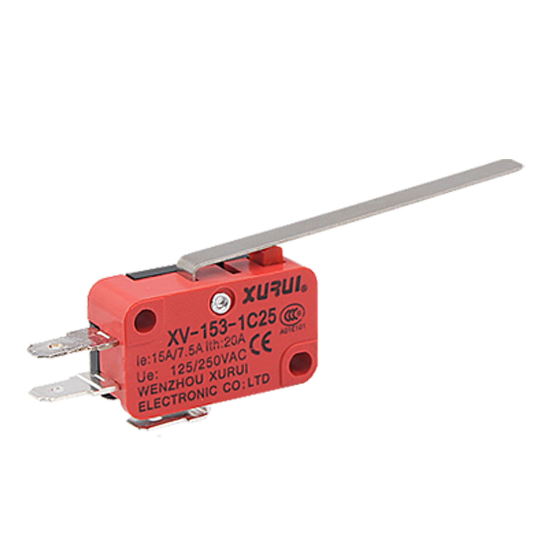 XV-153-1C25 Long Straight Hinge Lever Miniature Micro Limit Switch Snap Action