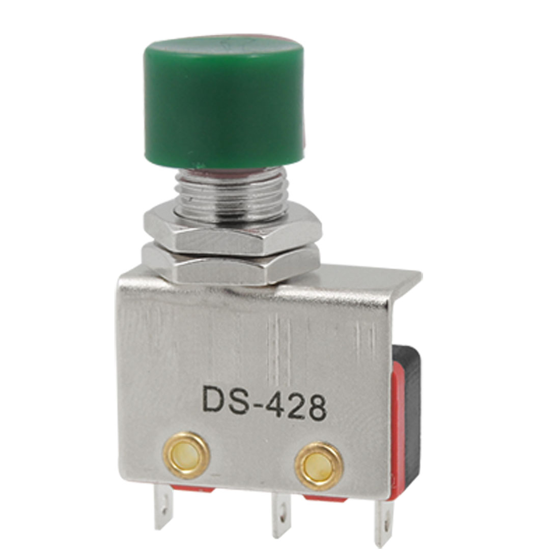 DS428 220V 10A SPDT Momentary Green Push Button Micro Limit Switch DS428