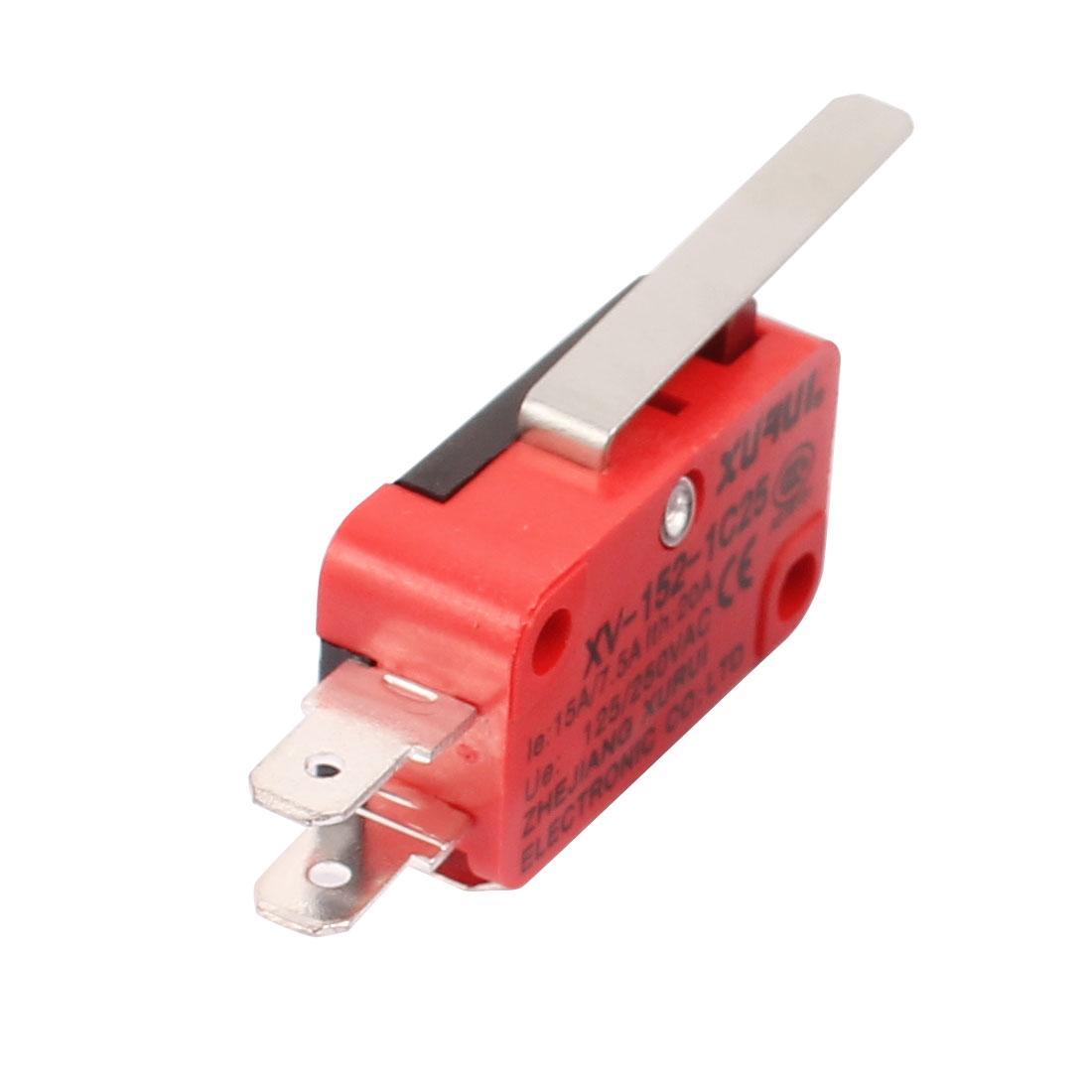 XV-152-1C25 Hinge Lever Type Miniature Micro Switch Momentary