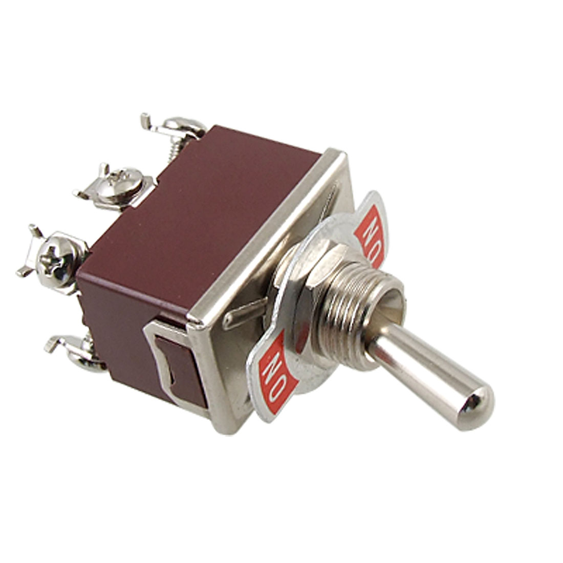 Metal Handle On/On DPDT Screw Terminals Toggle Switch AC 250V 15A