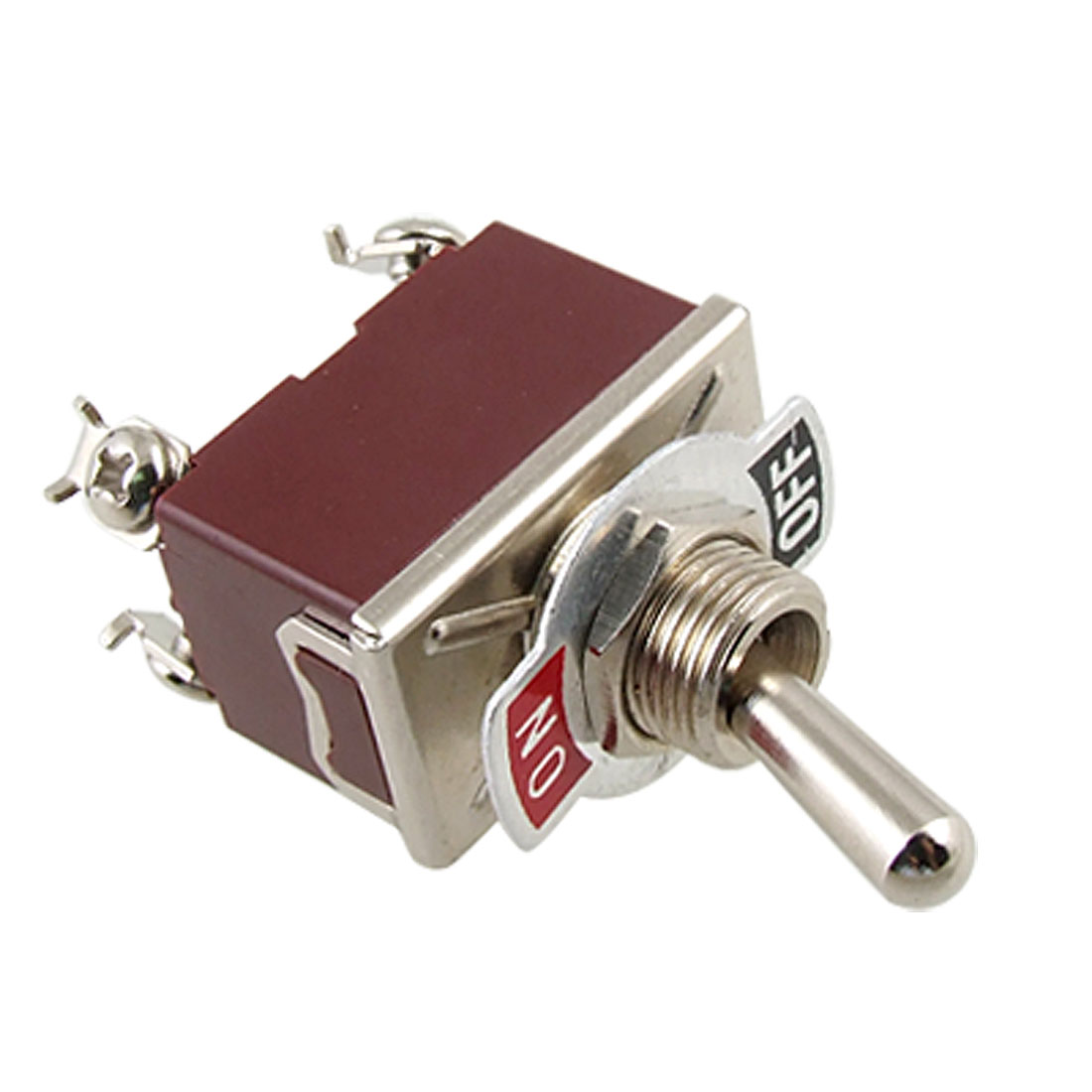 AC 250V 15A On/Off DPST 4 Screw Terminals Toggle Switch