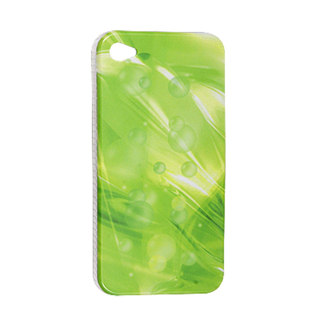 Light Green IMD Plastic Antislip Side Back Case for iPhone 4 4G
