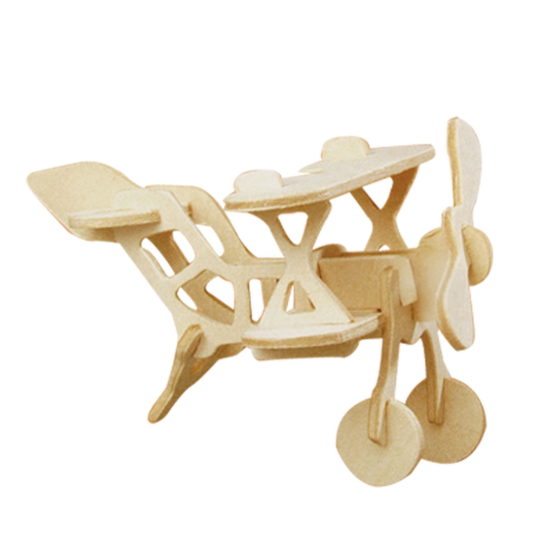 Bi Plane Model DIY Assemble 3D Wood Construction Kit Toy