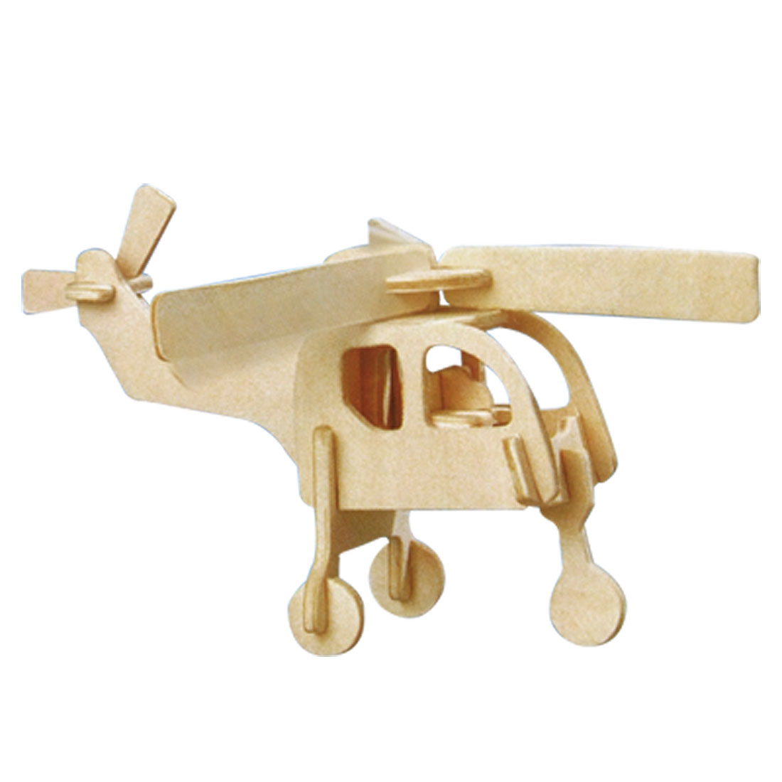 Helicopter Model Puzzle Craft Wooden Assemble Construction Kit Toy