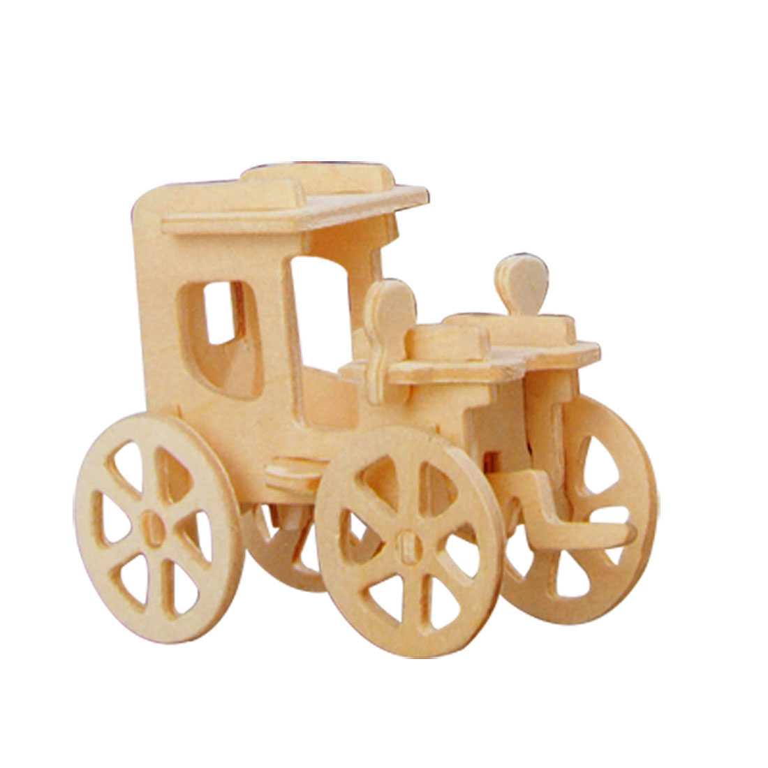 Carriage Model DIY Wooden Construction Kit Toy for Children