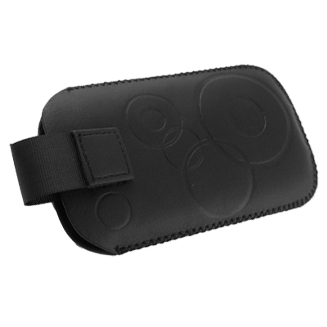 Faux Leather Black Protective Sleeve Pouch Case for LG KP500