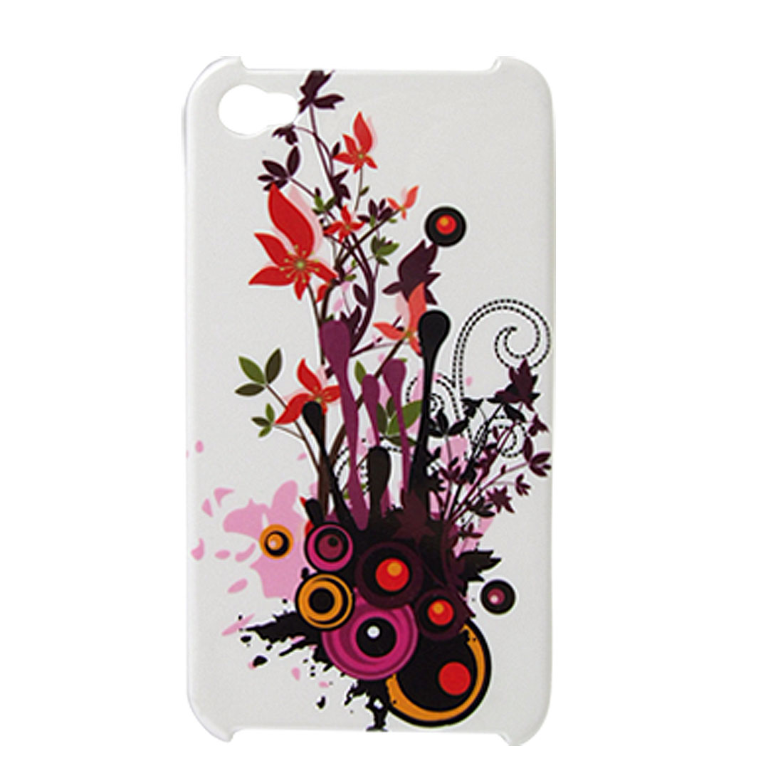 Hard Plastic Bubbles Leaves Printed Back Cover for iPhone 4 4G