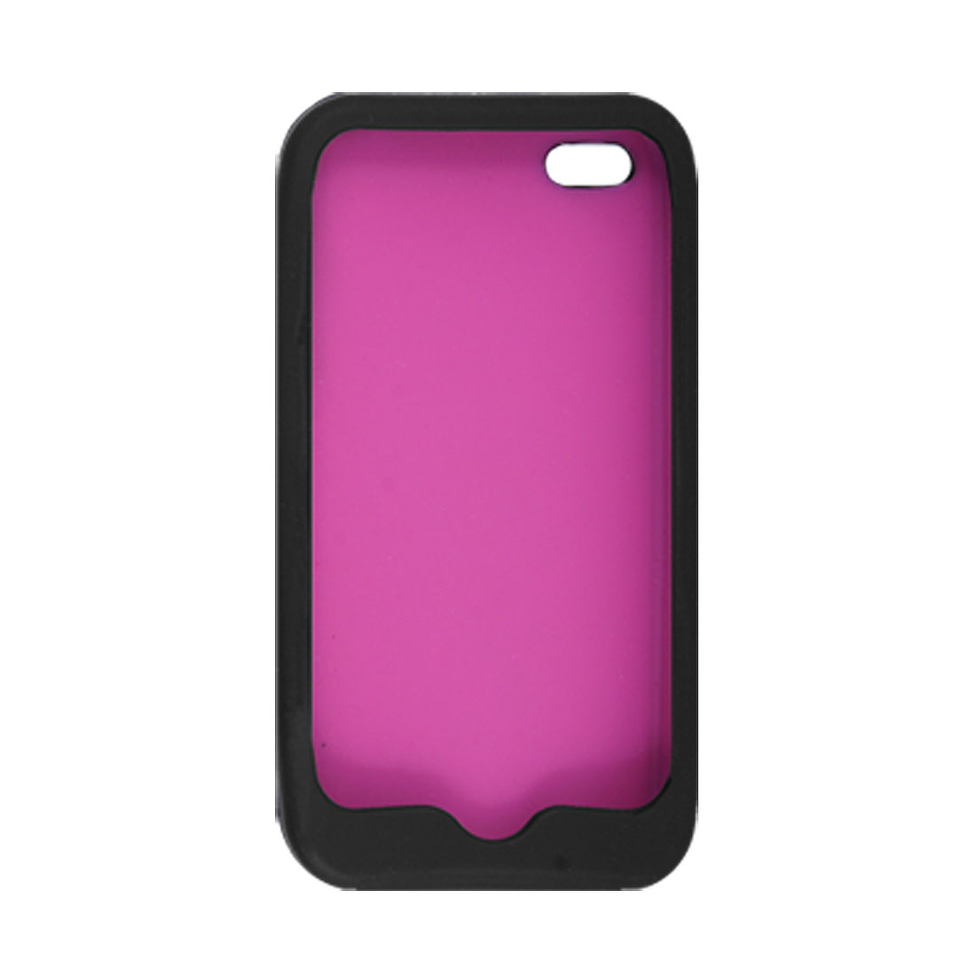 Fuchsia Fish Scales Black Silicone Soft Cover for iPhone 4 4G