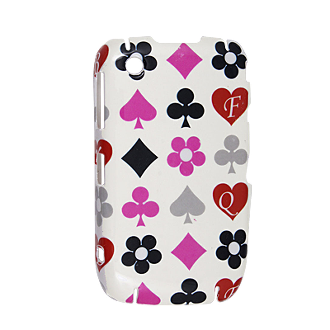 Playing Card Symbols White Background Hard Plastic Cover for BlackBerry 8520