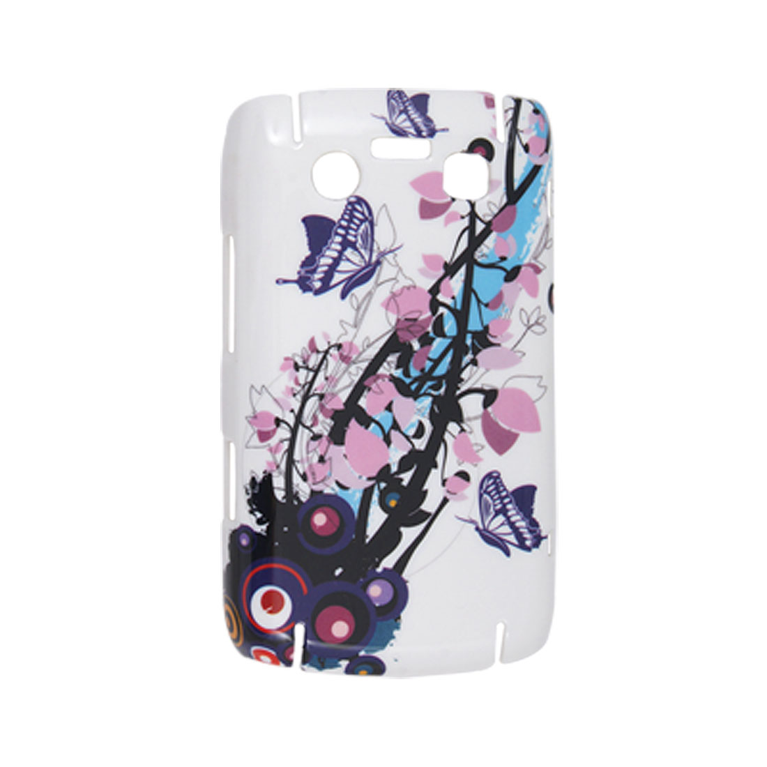 Butterfly Flowers Hard Plastic Back Case for BlackBerry 9700