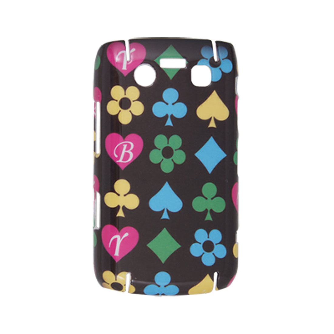 Playing Card Symbols Hard Plastic Back Case for BlackBerry 9700