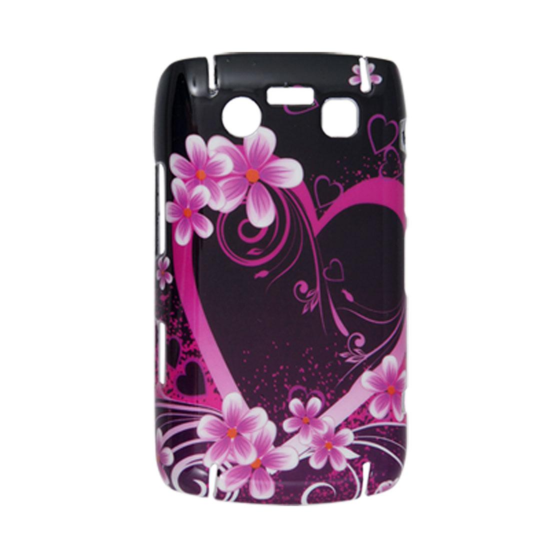 Flowers Prints Plastic Hard Back Shell Case for BlackBerry 9700