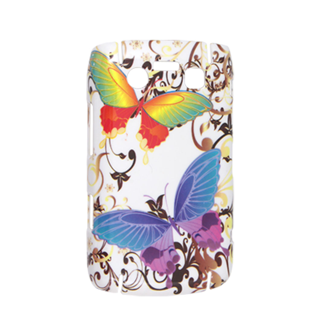 Butterfly Prints Hard Plastic Guard Cover for BlackBerry 9700