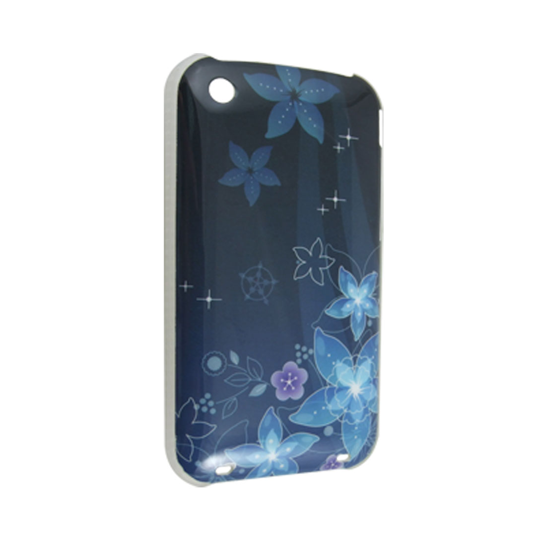 Floral Hard Plastic IMD Back Cover Guard for iPhone 3G